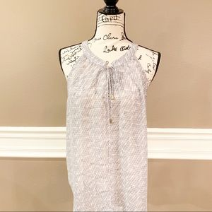 Banana Republic Sheer Sleeveless Blouse, Size L